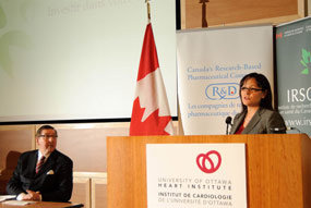 The Honourable Leona Aglukkaq, Minister of Health, announcing a renewed partnership between the Government of Canada and Rx&D