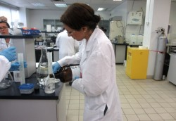 Learning, Developing Skills, Female Student working on an experiment