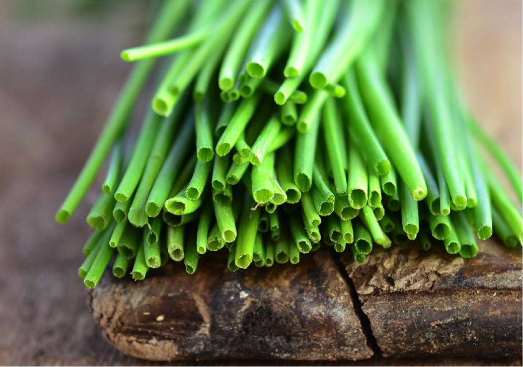 Chives are great examples of alliums with cancer-fighting organosulfur compounds.
