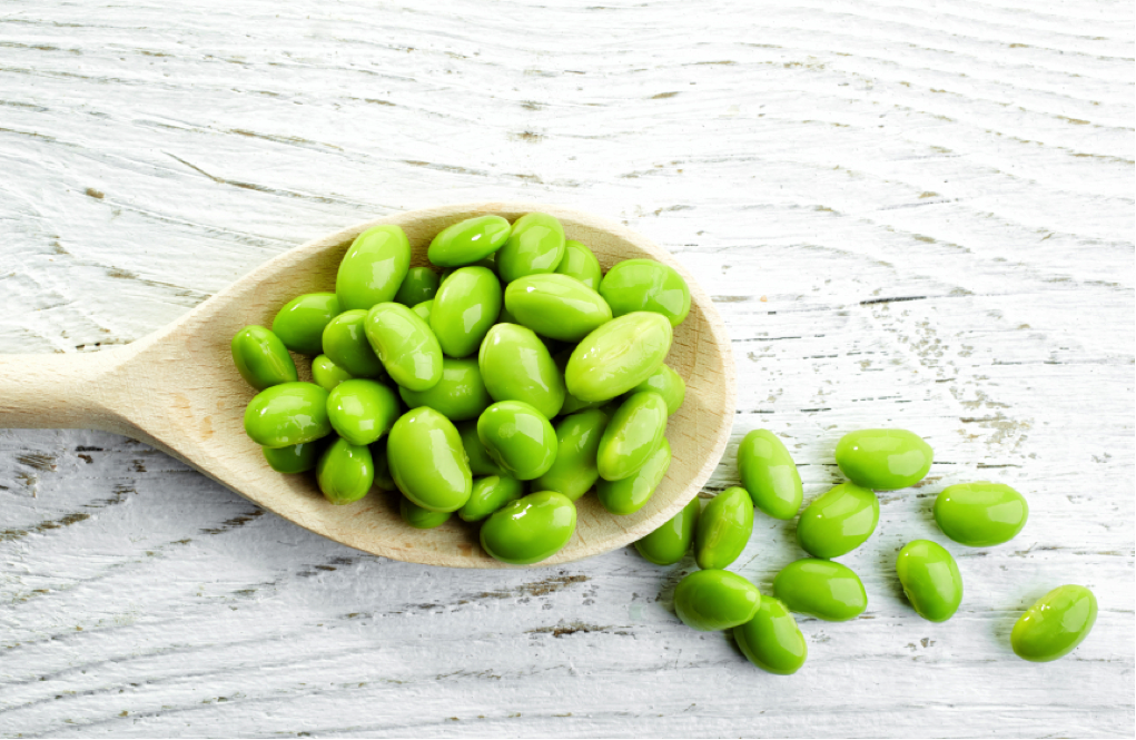 Edamame is a great source of iron.
