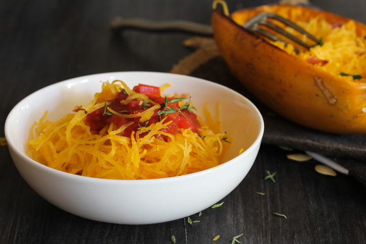 Spaghetti squash is a healthy comfort food your future clients are sure to love