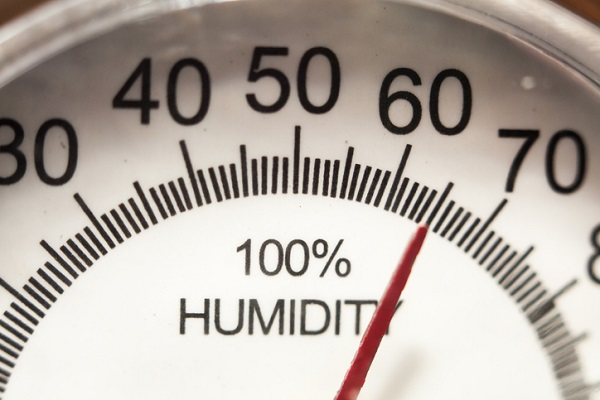 A hygrometer measures humidity