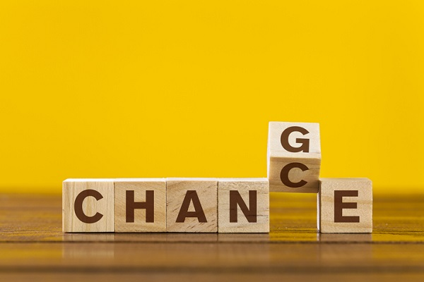 Seeing change as a chance to learn helps you stay positive