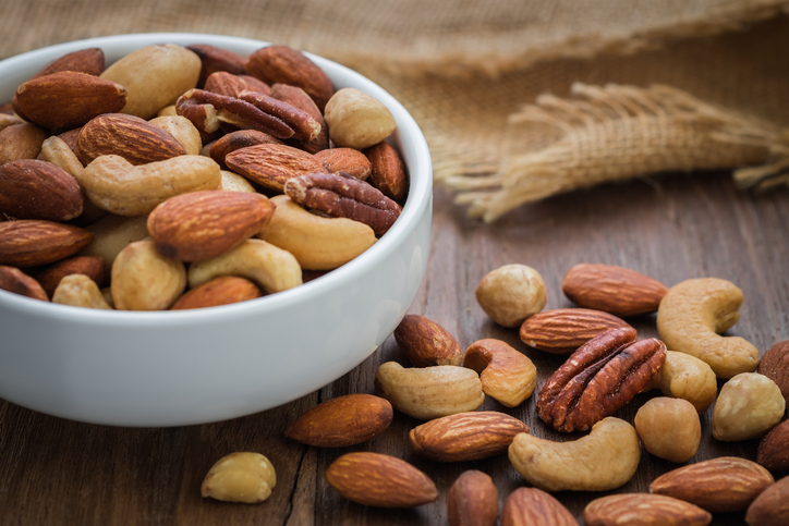 Older people may want to eat more nuts, which are a great source of magnesium